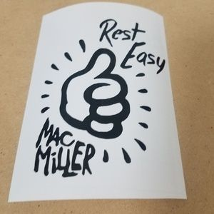 "6"" rest easy mac miller decal in black."